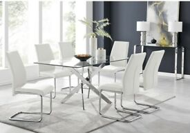 Brand new table and chairs x6