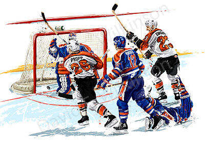 Nhl Philadelphia Flyers Brian Propp Scores Art Giclee By David E  Wilkinson