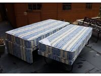 Single bed with folding 2nd guest bed