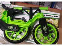 Xootz Folding Kids Balance Bike Green - Brand New Boxed