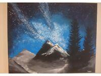 Canvas acrylic paint