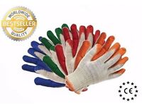 600 PAIRS OF NEW QUALITY WORK RUBBER COATED PROTECTIVE GLOVES SAFETY GRIP SIZE 9