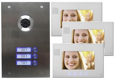 3-Familienhaus Video Türsprechanlage Gegensprechanlage mit Kamera