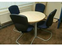 Oval office desk with 4 chairs