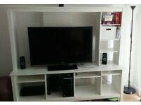 White TV storage unit. Tomnas tv stand. URGENT.