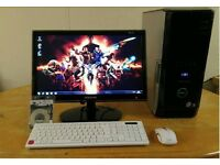 """Gaming Dell XPS 430 Quad Core Gaming Desktop Computer PC With Samsung Syncmaster 20"""""""