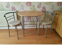 Kitchen Dining Room Bistro Set. (Table & 2 Chairs)