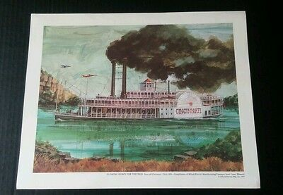 Killark Electric Mfg Co 1977 Four Full Color Lithographs Cincinnati, Blackwater