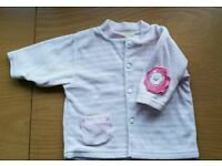 3-6 months baby girls clothes velour jacket coat Excellent condition