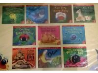 New - 10 Childrens books with Cd's. (Duplicate Gift)