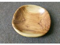 Olive wood fruit basket