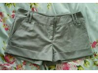 Size 12 grey pinstripe Therapy shorts