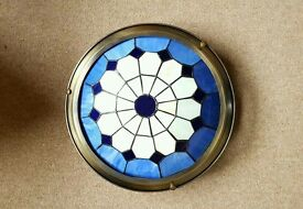 VINTAGE ROYAL BLUE TIFFANY LAMP SHADE