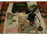 Nintendo N64 console plus 5 games