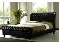 Chesterfield Leather Bed // (BRAND NEW)