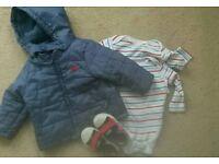 9-12 months Coat vests shoes size 4