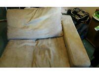 Large beige corner armchair