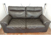 Leather 2 seater sofa bed - £100