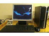 "RM Desktop PC Computer Slim Form & 17"" Monitor Built in Speaker"