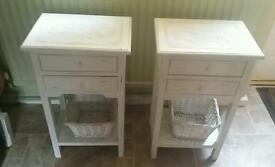 Lovely pair of bedside tables