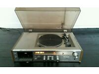 Old record player, no speakers.