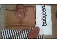 Baby Beau Leather Baby Changing Bag