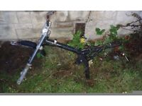 PIT BIKE FRAME AND FORKS ONLY cash offers only