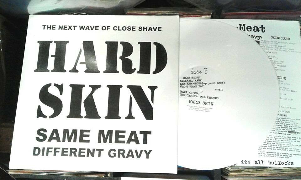 Hard Skin ‎– Same Meat Different Gravy, NM, on white vinyl, released ‎in 2004, Punk Oi Vinyl Record