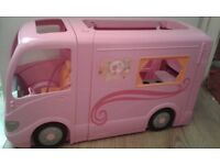 Barbie campervan, kitchen and accessories