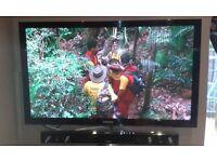 samsung 50 inch plasma tv & samsung active sound bar with subwoofer