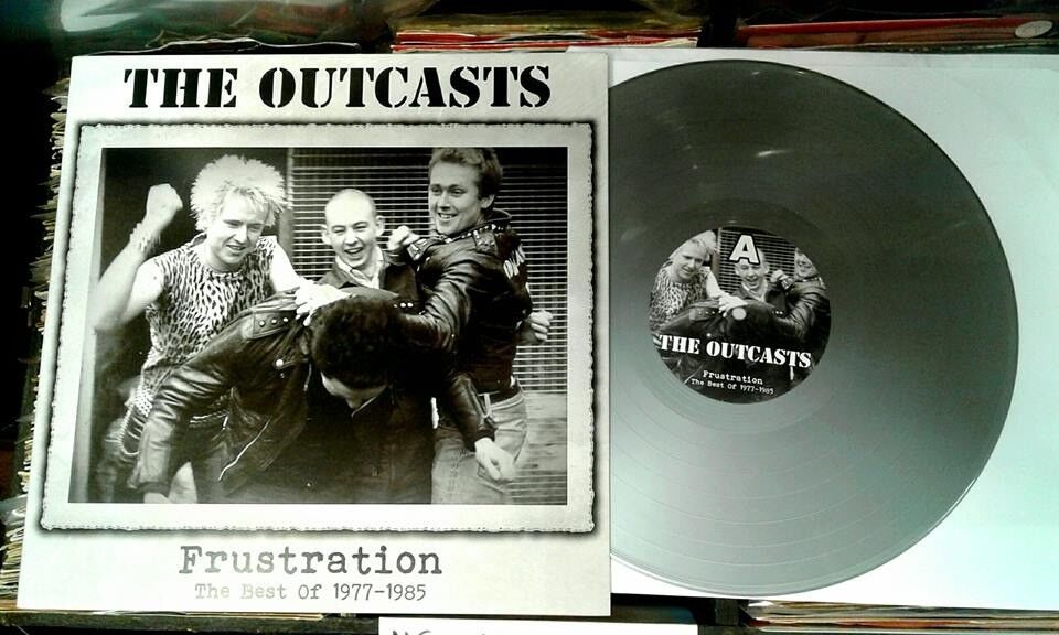The Outcasts ‎– Frustration - The Best Of 1977-1985, NM, on grey vinyl, released ‎in 2013, Punk Oi
