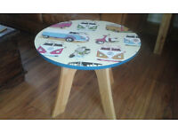 ***SUPER FUNKY VW CAMPER VAN DESIGN SIDE/COFFEE TABLE UPCYCLED ONE OF A KIND***