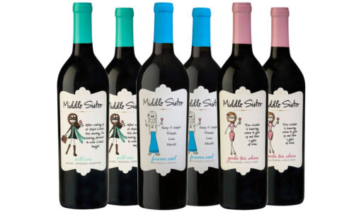 Middle Sister Mixed Red Wine Pack 6 Bottles