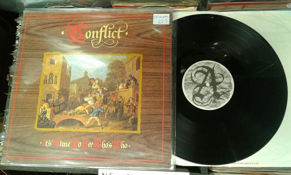 Conflict ‎– It's Time To See Who's Who, VG, gatefold sleeve, released in 1983, Punk Oi Vinyl Record