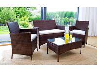 Ventura Rattan Sofa Set For Outdoor & Garden Patio (Sofa, 2 Chairs & Table)