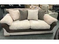 Fabric 3 seater pillow back sofa