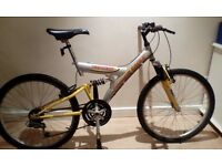 cheap full suspension mountain bike, only £20 ride away
