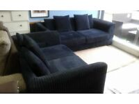 BRAND NEW DFS BLACK 3+2 SOFAS DELIVERY FREEEEE