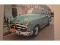 vintage canvas car pircture
