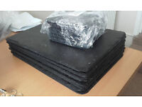 set of 8 coasters, set of 8 place matts and 1 revolving platter slate