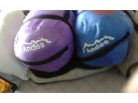 2 x Andes Palermo 400, 3-4 Season Envelope Sleeping Bags..£15.o.n.o.(each)(New)