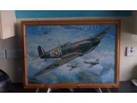 Framed World War Two Aircraft.