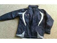 Navy Blue Macron Coat Size 3 XS