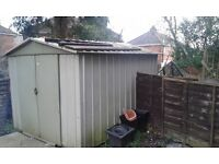 10x8ft metal garden shed