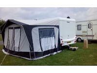 Bradcott awning nearly new used 4 times reason for sale bought new van size 26ft 1inch