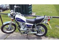 Motorbike for sale with extras low mileage