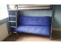 Jaybee high sleeper metal bed frame.