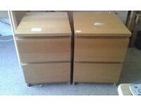 2 x Wooden Beech Pedastals