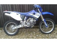 YAMAHA WR400F OFF/ON ROAD BIKE 11 MONTHS M.O.T SWAP 250 2 STROKE OR OTHER 4 STROKE WITH E/START