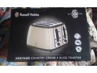Russell Hobbs 18369 Heritage Range 4 Slice Toaster cash sale